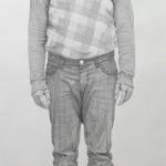 'Syrer' (Zustand) / Bleistift auf Papier / 100 x 200 cm / 2014